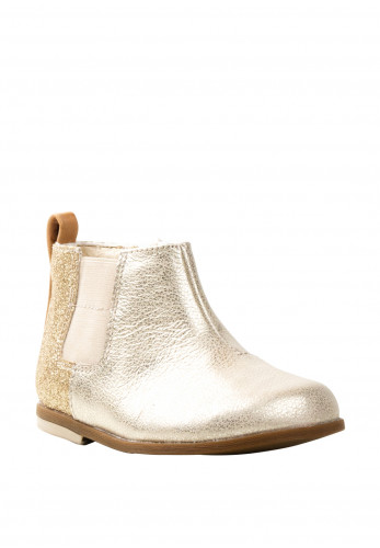 Clarks Baby Girls Drew Fun Metallic Boots, Gold