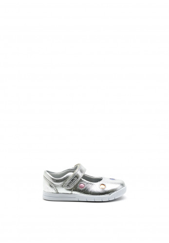 Clarks Baby Girls Emery Dot Shoes, Silver