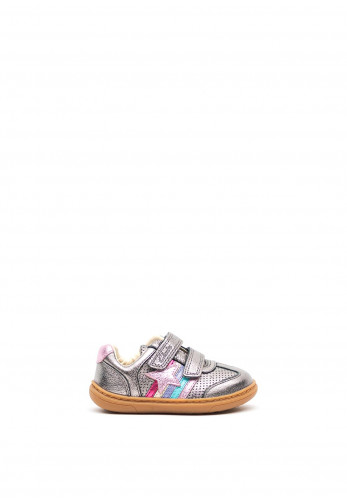 Clarks Baby Girls Flash Heat Leather Shoes, Silver
