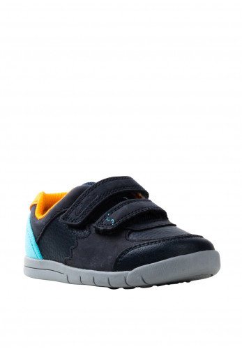 Clarks Baby Boys Rex Quest Trainers, Navy