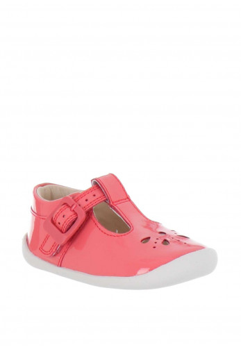 Clarks Baby Girls Roamer Start Pre Walker Shoes, Coral