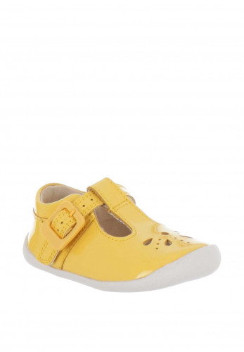 Clarks Baby Girls Roamer Start Pre Walker Shoes, Yellow
