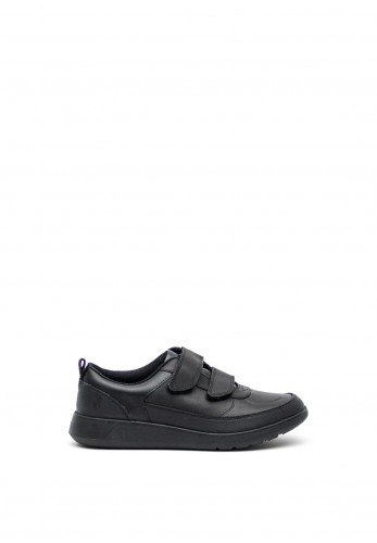 Clarks Boys Scape Flare Leather Shoes, Black