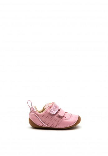 Clarks Baby Girls Tiny Sky Leather Shoes, Pink