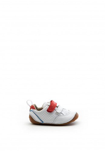 Clarks Baby Boys Tiny Sky Leather Shoes, White