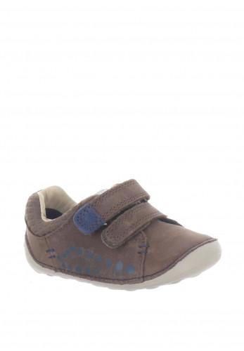 Clarks Baby Boys Tiny Trail Leather Pre-Walking Shoes, Brown