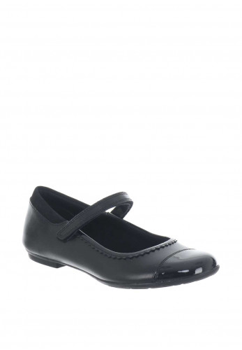 Clarks Bootleg Girls Shoes, Black