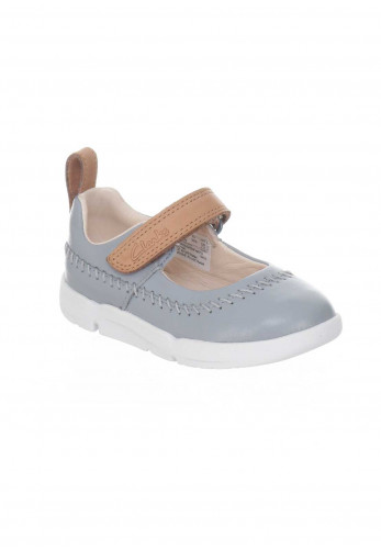 Clarks Baby Girls Leather Tri Atlas Shoes, Grey