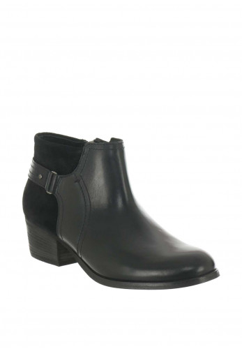 Clarks Womens Maypearl Leather Boots, Black
