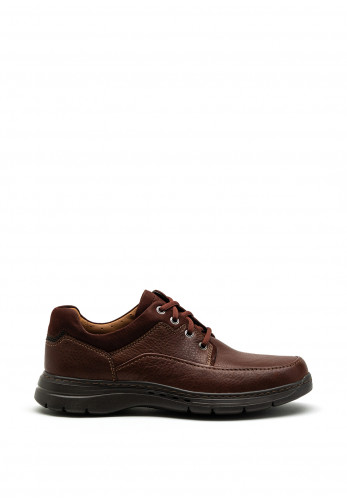 Clarks Unstructured Un Brawley Laced Shoe, Mahogany