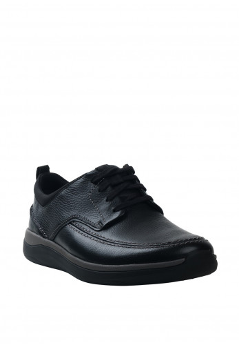 Clarks Unstructured Garratt Street Shoe, Black