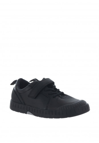 Clarks Boys Apollo Step Leather School Shoes, Black