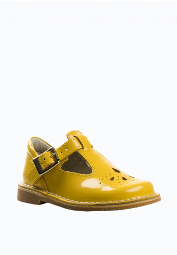 Clarks Baby Girls Comet Weave Patent Shoes, Yellow