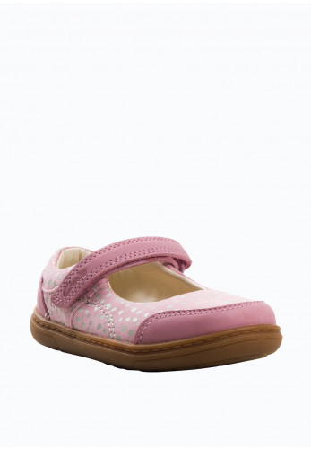 Clarks Baby Girls Flash Bright Leather Velcro Shoes, Pink