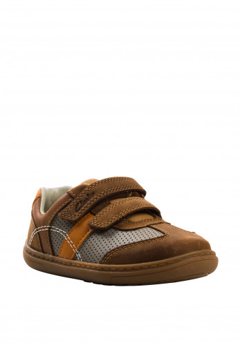 Clarks Baby Boys Flash Metra Velcro Trainers, Tan
