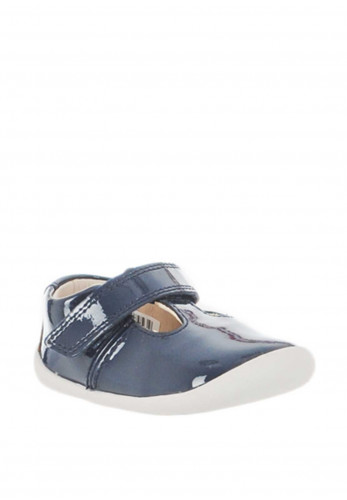 Clarks Baby Girl Roamer Go Pre-Walking Shoes, Navy