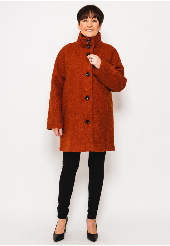 Leon Collection Teddy Coat, Rust