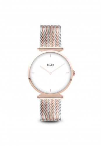Cluse Triomphe Bicolour Mesh Watch, Rose Gold