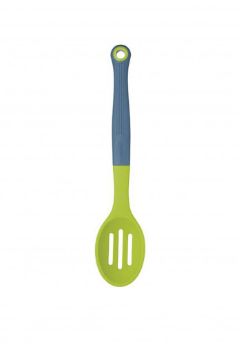 Colourworks Soft Touch Silicone Headed Slotted Spoon, Green