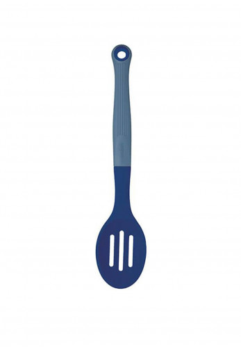 Colourworks Soft Touch Silicone Headed Slotted Spoon, Navy