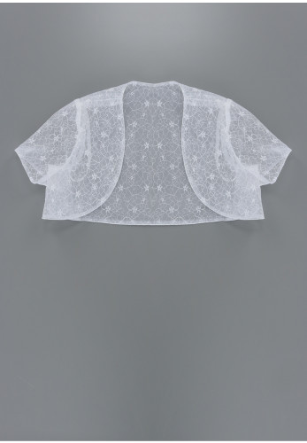Tinkerbelle Lace Communion Bolero, White