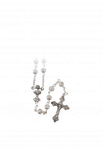 Communion Metal Filigree Rosary Beads