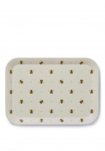 Cooksmart Bumble Bees Large Bamboo Tray, Cream