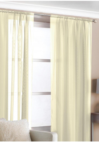 "Country Club 2 Slot Top Voile Panels 59""x36"", Cream"