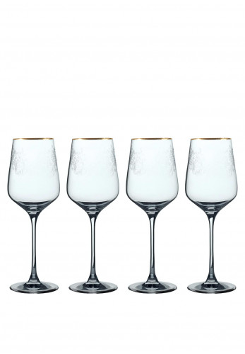 The Cole Collection Set of 4 Crystal White Wine Glasses