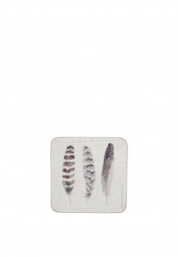 Creative Tops Feathers Set of 6 Coasters, Multi