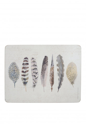 Creative Tops Feathers Set of 6 Placemats, Multi