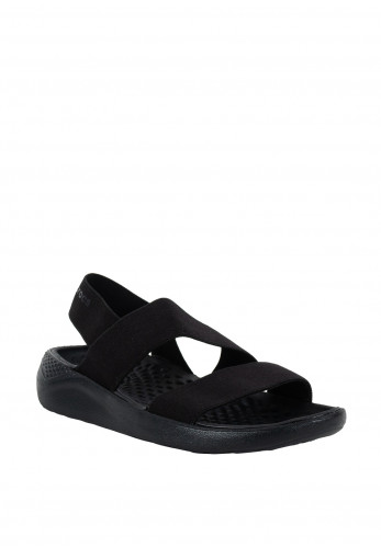 Crocs Lite Ride Stretch Sandals, Black