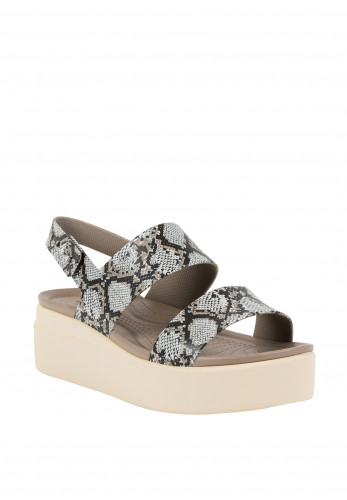 Crocs Brooklyn Low Wedge, Snake Print