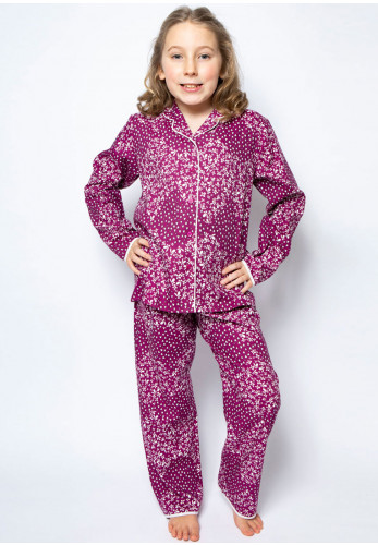 Cyberjammies Girls Mini Nova Pyjama Set, Purple