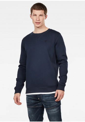 G Star Raw Mens Premium Core Crew Neck Sweater, Sartho Blue