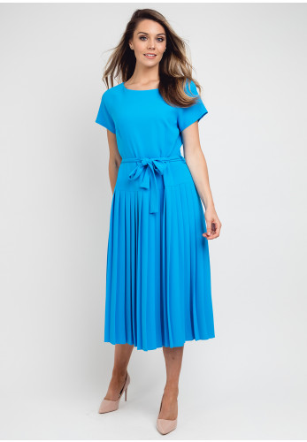 Daisy May Pleated Midi Dress, Blue