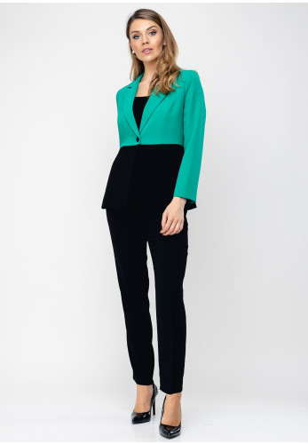Daisy May Colour Block Trouser Suit, Green & Black
