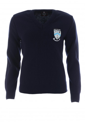 Deer Park Deele College School Jumper, Navy