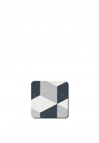 Denby Grey Geometric Square Coasters Set of 6