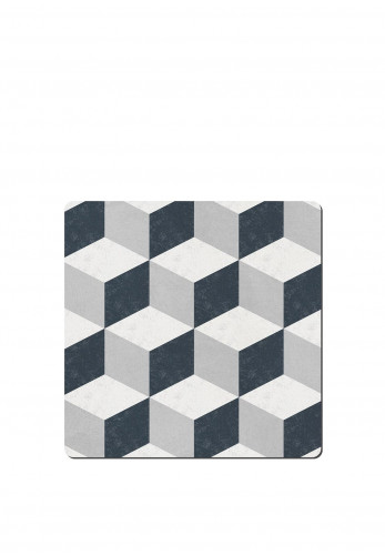 Denby Grey Geometric Square Placemats Set of 6