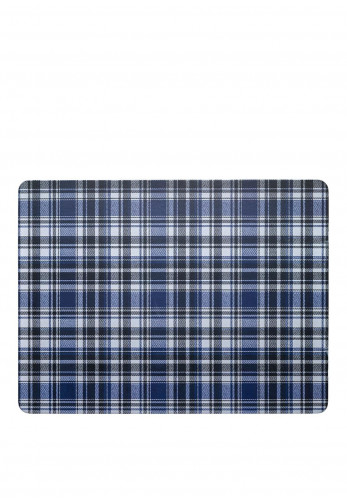 Denby Elements Checked Set of 6 Placemats, Black & Blue