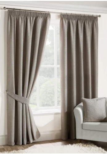 "Design Home 66"" x 90"" Versailles Pencil Pleat Ready Made Curtains, Oyster"