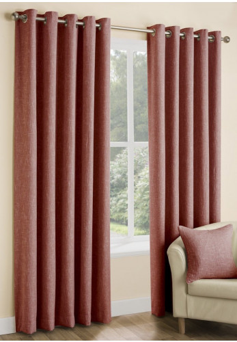 Design Home Huxley Eyelet Ready Made Curtains, Spice