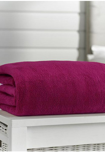 Deyong's Snuggle Touch Deluxe Throw, Magenta