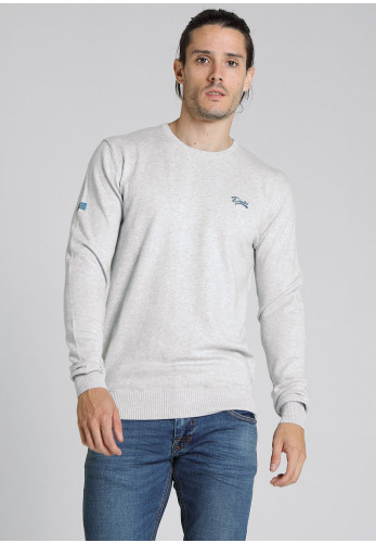 Diesel Mens Dale Round Neck Sweater, Pebble Grey