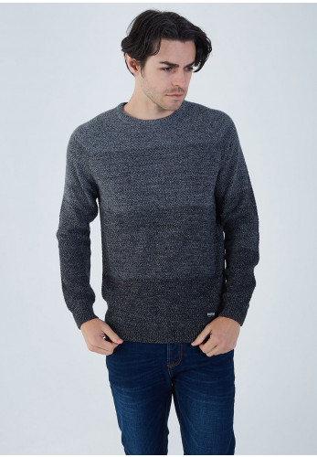Diesel Mens Ralph Knit Jumper, Coal Dust Grey