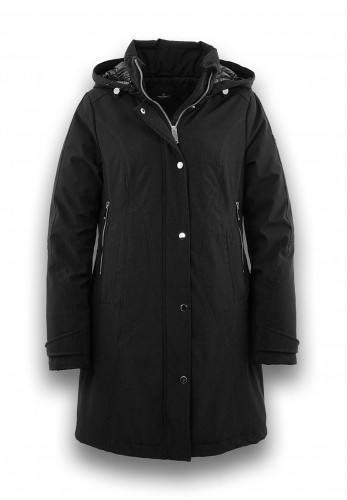 District Piper Water Repellent Coat, Black