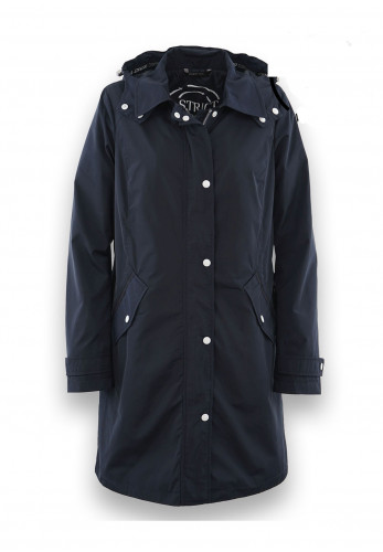 District Swing Hooded Recycled Shell Jacket, Navy