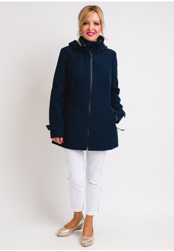District Fairway Hooded Soft Shell Jacket, Navy