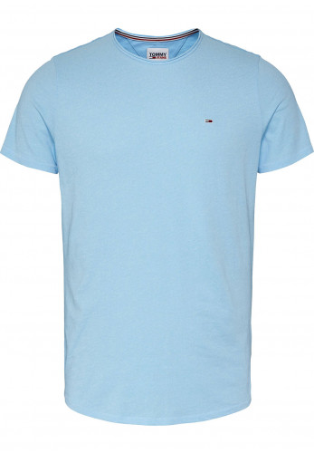 Tommy Jeans Slim Jaspe T-Shirt, Chilly Blue